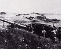 一次史料砲による包囲攻撃